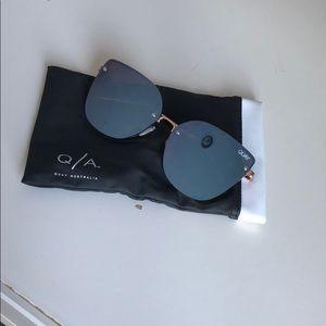 QUAY Australia Metallic Purple Sunglasses